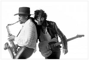 Clarence Clemons og Bruce Springsteen