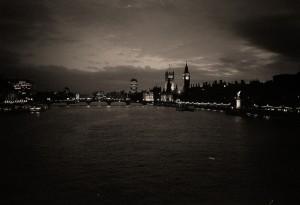 Hungerford Bridge twilight