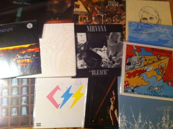 Et udvalg af Sub Pop-plader. Kunne ikke lige finde min Postal Service-plade ...
