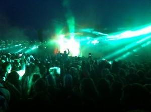 Typisk mobiltelefon-koncertfoto ...