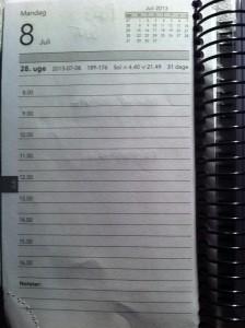 Sådan bør et kalenderblad se ud dagen efter en Roskilde Festival. Tak.