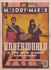 underworld-on-the-cover-of-melody-maker-22nd-january-1994