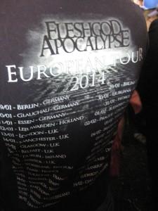 Kødgudens Apokalypse. På europaturne. I fjor. De magtede altså ikke opgaven at få verden til at gå under. Ha!