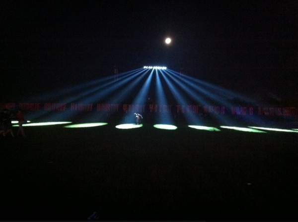 Ufo-lys på Orange plads