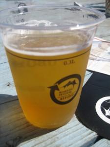 Øl shots.