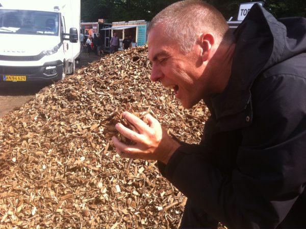 Blogbroder Fez elsker træflis. Naturligvis.