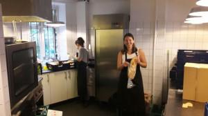 Køkkenet på arbejde